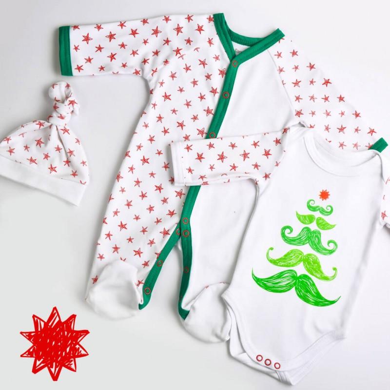 Christmas Collection - набір: чоловічок, бодік, шапка